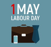 1 May Labour Day Poster or Banner. Vector Illustration Stock Photo