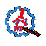 1 may - labour day. vector happy labour day poster or banner. 1 may - labour day. Poster international worker`s day Stock Photo