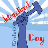 1 may - labour day. vector happy labour day poster or banner. 1 may - labour day. Poster international worker`s day Stock Image