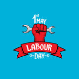 1 may - labour day. vector labour day poster. 1 may - labour day. vector happy labour day poster or workers day banner Royalty Free Stock Image