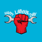 1 may - labour day. vector labour day poster. 1 may - labour day. vector happy labour day poster or workers day banner Stock Photo