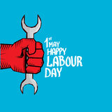 1 may - labour day. vector labour day poster Stock Images