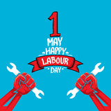 1 may - labour day. vector labour day poster. 1 may - labour day. vector happy labour day poster or workers day banner Stock Images