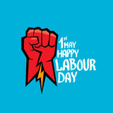 1 may - labour day. vector labour day poster Royalty Free Stock Photography
