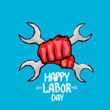 1 may - labour day. vector labour day poster Stock Photo