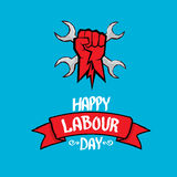 1 may - labour day. vector labour day poster Stock Photos