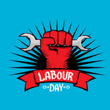 1 may - labour day. vector labour day poster Royalty Free Stock Photos