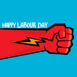 1 may - labour day. vector labour day poster Royalty Free Stock Image