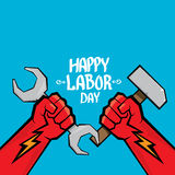 1 may - labour day. vector labour day poster Royalty Free Stock Photo