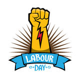 1 may - labour day. vector labour day poster Stock Photography