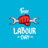 1 may - labour day. vector labour day poster. Or workers day banner Stock Photography