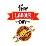 1 may - labour day. vector labour day poster Stock Image