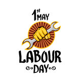 1 may - labour day. vector labour day poster Royalty Free Stock Images