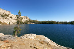 The May lake in mountains Yosemite park Royalty Free Stock Photography