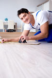 The may laying laminate flooring at home. May laying laminate flooring at home stock images