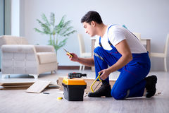 The may laying laminate flooring at home. May laying laminate flooring at home stock photos