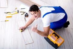 The may laying laminate flooring at home. May laying laminate flooring at home stock images