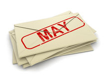 May letters  (clipping path included) Royalty Free Stock Image