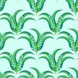May-lily seamless pattern Stock Images