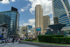 May 26,2016 look at the Myeong-dong at front of Shinsegae Depart. Look at the Myeong-dong at front of Shinsegae Department store , Seoul , South Korea Royalty Free Stock Photo