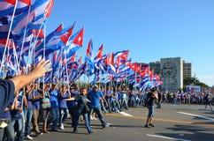 1 may meeting. Havana. Cuba. Stock Image