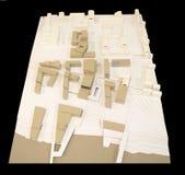 Mały miasta odzyskiwanie, 3D model Zdjęcia Royalty Free
