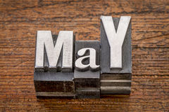 May month in metal type Stock Images