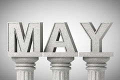 May month sign on a classic columns Stock Photos