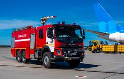 Fire truck at the airport
