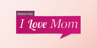 14 May Mother's Day banner isolated on pink background. Banner design template in paper cutting art style. Vector illustration Stock Photo