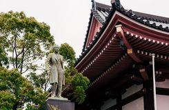 Old Bronz statue monument of King Chulalongkorn of Siam Thailand at Nittaiji Temple royalty free stock image