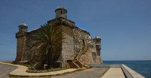 May 2nd 2017 La Chorrera,Y Cojimar fort on the Sea of Cuba Royalty Free Stock Images