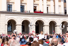 17 may oslo norway on front of royal palace Stock Photography