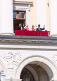 17 may oslo norway Royal Family waving Stock Image