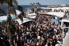 May 6, 2018 outdoor disco Bugibba, Malta. May 6, 2018 outdoor disco in Bugibba, Malta Stock Photos