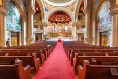 May 9, 2019 Palo Alto / CA / USA - Interior view of the Memorial Church at Stanford stock photos