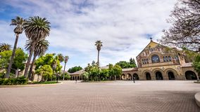 May 9, 2019 Palo Alto / CA / USA - The Memorial Church and the Main Quad at Stanford University stock image