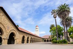 May 9, 2019 Palo Alto / CA / USA - The Memorial Court at Stanford stock photos