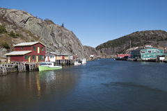May 2015, Picturesque village of Quidi Vidi and its harbour, Saint Johns, Royalty Free Stock Photo