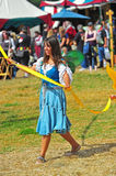 May pole dance at a local Renaissance fair Royalty Free Stock Image