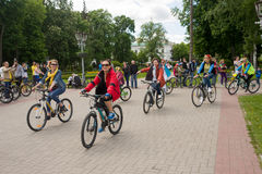 May 16, 2015: Poltava. Ukraine. Cycling Women's Bike Parade stock images