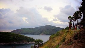 May ,1 ,2015  Promthep Cape. Phuket island, Thailand. stock video footage