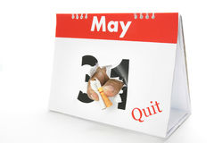 13 May quit smoke. The calendar shows the dates of May 13 is World No Tobacco Day Royalty Free Stock Photo