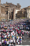 May 17, 2015. Race for the cure, Rome. Italy. Race against breast cancer. Royalty Free Stock Photography