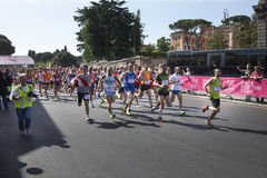May 17, 2015. Race for the cure, Rome. Italy. Race against breast cancer. Stock Photo