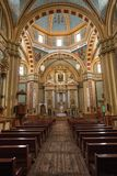 Cathedral interior in Real de Catorce Mexico. May 22, 2014 Real de Catorce, Mexico: thousands of pilgrims visit the Parish of Immaculate Conception the week Stock Image