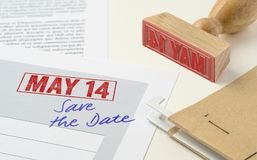 May 14. A red stamp on a document - May 14 Stock Image