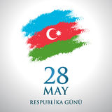 28 May Respublika gunu. Translation from azerbaijani: 28th May Republic day of Azerbaijan.  Vector Illustration