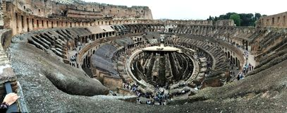 Interior panorama of the Colosseum stock photography