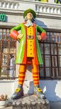 May 2019, Russian Federation, Kazan, Bauman Street. Figure of a fabulous character. May 2019, Russian Federation, Republic of Tatarstan, Kazan, Bauman Street stock photography
